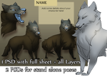 Winter Wolf Character Pack by skulldog