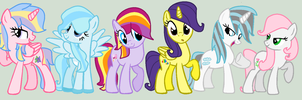 All My Pony OCs/My Main 6 by LittleCloudie