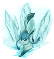 Glaceon by Raidiance