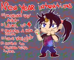 New year intentions 2015 by Narcissamadness