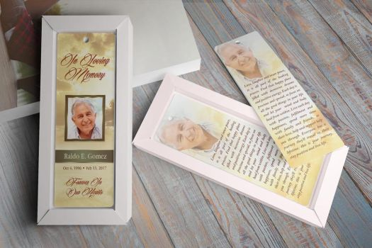 Forever Funeral Bookmark Template by Godserv