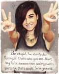 Be Yourself Christina Grimmie by EmoHoodieDude