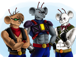 Biker mice from Mars by VanillaHigh