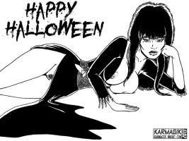 Elvira - Halloween 2013 by karmagik