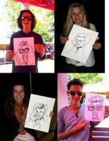 Recent Live Caricatures by DoodleArtStudios