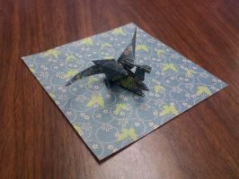 Dragon Origami Butterfly Paper by GoldWinds