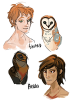 Humanized Owlies! by aignavus