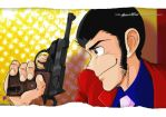 lupin III + P38 open. 2nd TV by handesigner