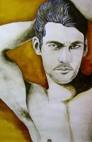 Study of male figure - David Gandy by AirelavArt
