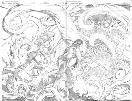 Conan vs Red Sonja page 11 and 12 by RandyGreen