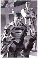 Superboy and Luthor- Marker by ChristopherStevens