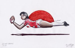 NFL Pin Up- Cardinals by ImfamousE