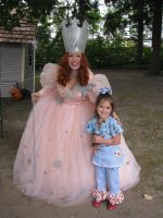 Glinda and a Little Friend by ZacharyRyanCostumes