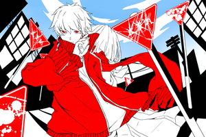 Color of a Hero - Kagerou Project fanart by tsunderenyan