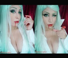 Morrigan Aensland : Good Girl Bad Girl by plu-moon