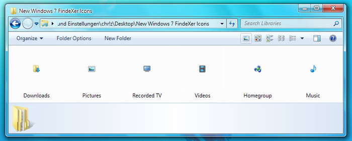New Windows 7 FindeXer Icons by chrizlu