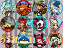 12 Tails Badges by MZ15