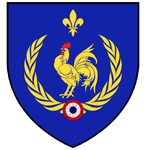 Heraldic French Rooster by Scipia