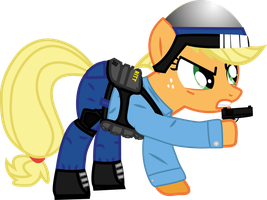 Applejack is Barney Calhoun! by HiveLordLusa