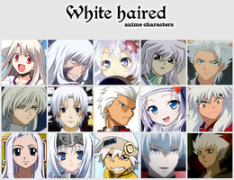 White haired anime characters by jonatan7