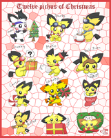 Twelve Pichus of Christmas by pichu90