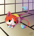 Yo-Kai Watch Jibanyan Relaxing by ArcaneAvis