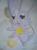 Tommie plays tennis by NIGHTSandTAILSFAN