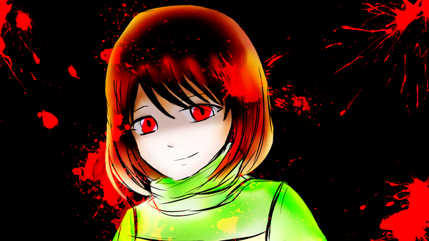 Just red colour... - Chara by SynTheSaizer