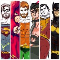 jla roughs by ArtByFab
