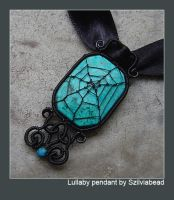 Lullaby spiderweb pendant by bodaszilvia
