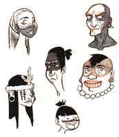 Taino Faces by quite-possibly