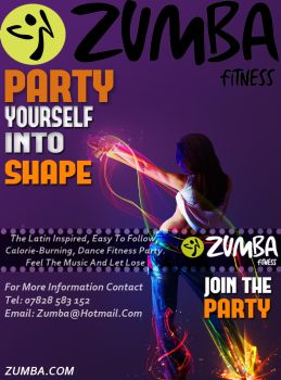 Zumba poster by SamCookeGraphics