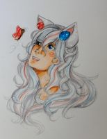Copic Marker Practice || Akina [G] by cloudylicious