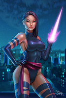 Marvel X-men Psylocke by kewminus