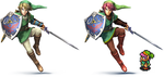 Smash bros wii u A link to the past recolor by Daeron-Red-Fire