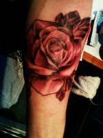My rose tattoo by Brynios