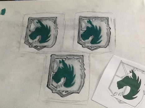 AoT military police patches by FMAfreakoid