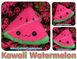Watermelon slice plushie by The-Cute-Storm