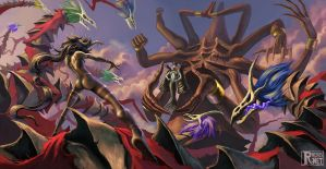 Battle Of Witches by Rivenis