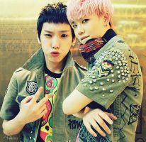 B.A.P Himchan and Zelo by fuckyeahKPOP