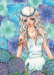 50. ACEO - Hydrangeas garden by Michaela9