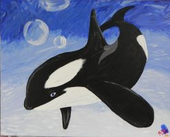Orca Painting by Tak-is-back-in-black
