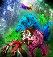 Maadna and Her Wolves by wolfs-rain-amanda