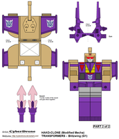 Hako Clone- Blitzwing '2of2' by CyberDrone