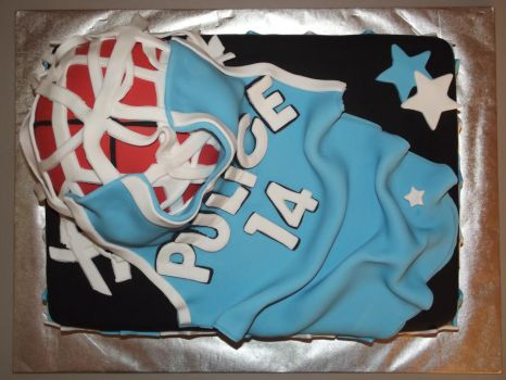 Basketball Jersey Cake by GrimMercy