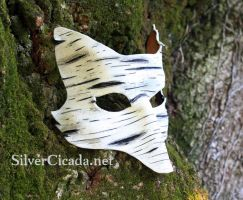 Birch Bark Leather Fox Mask by SilverCicada