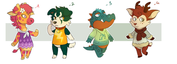 Animal Crossing adoptables [CLOSED] by Myekaa
