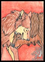 TA Cuddle Wolves by NathalieNova