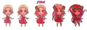 fire fairy all stages by cgart4u