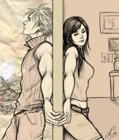 GiftArt: FFVII - The Wall by Cairisti